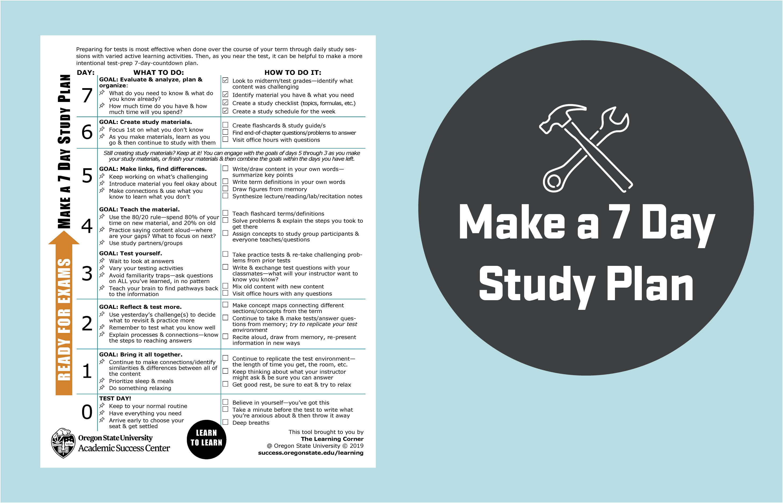 7 Day Study Plan