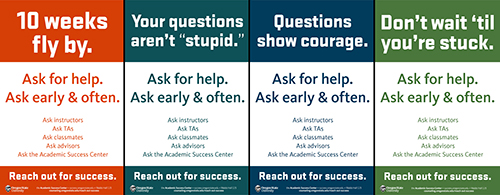 Ask For Help Campaign posters