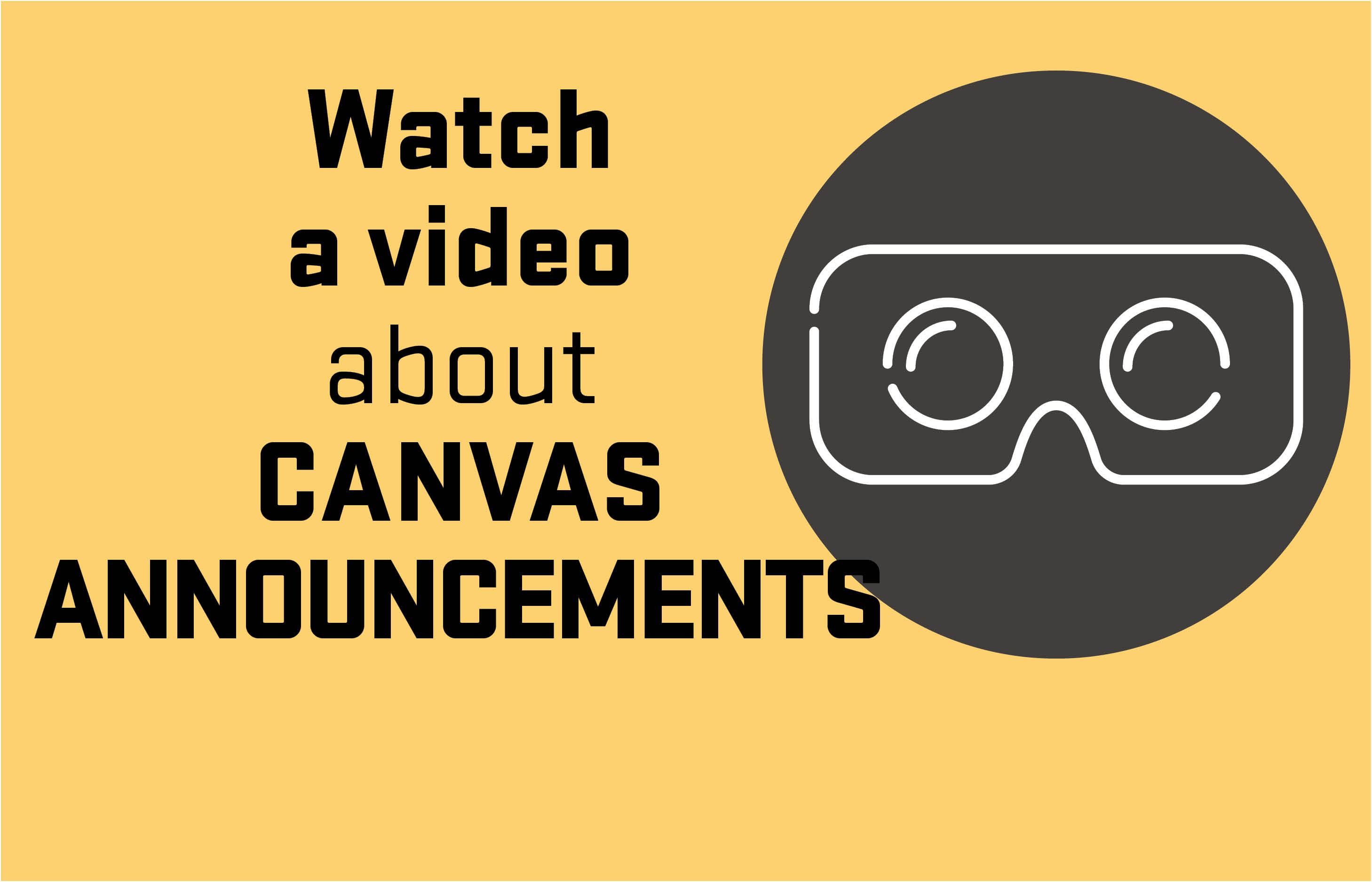 Watch a video about Canvas Announcements