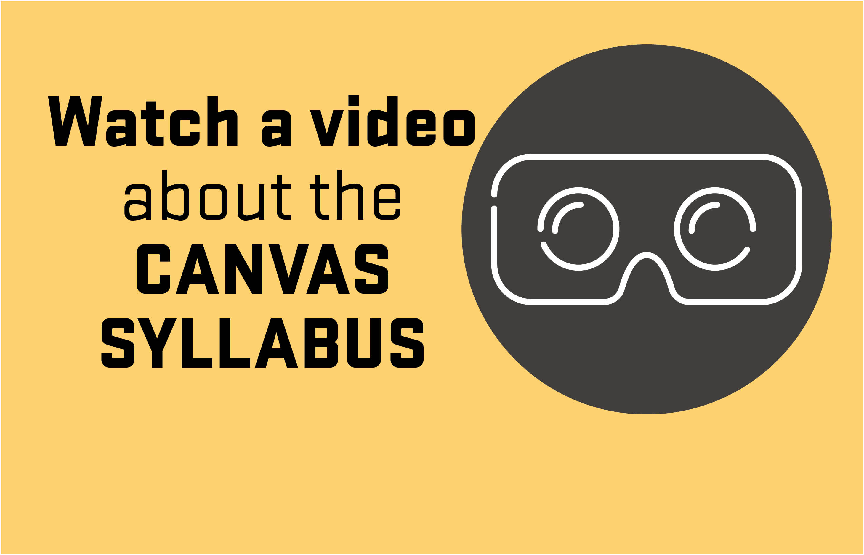 Watch a Video about the Canvas Syllabus