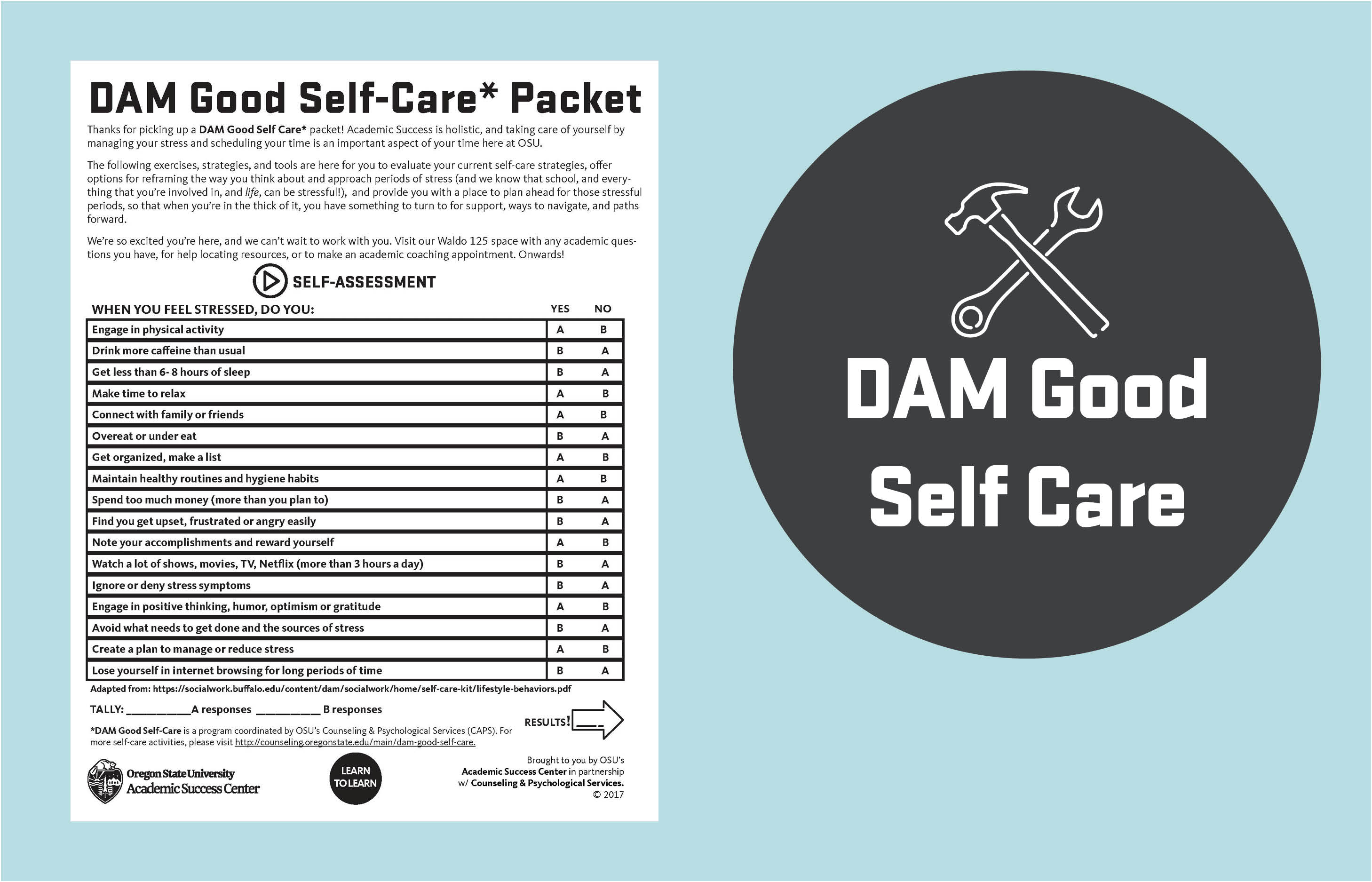 DAM Good Self Care Packet