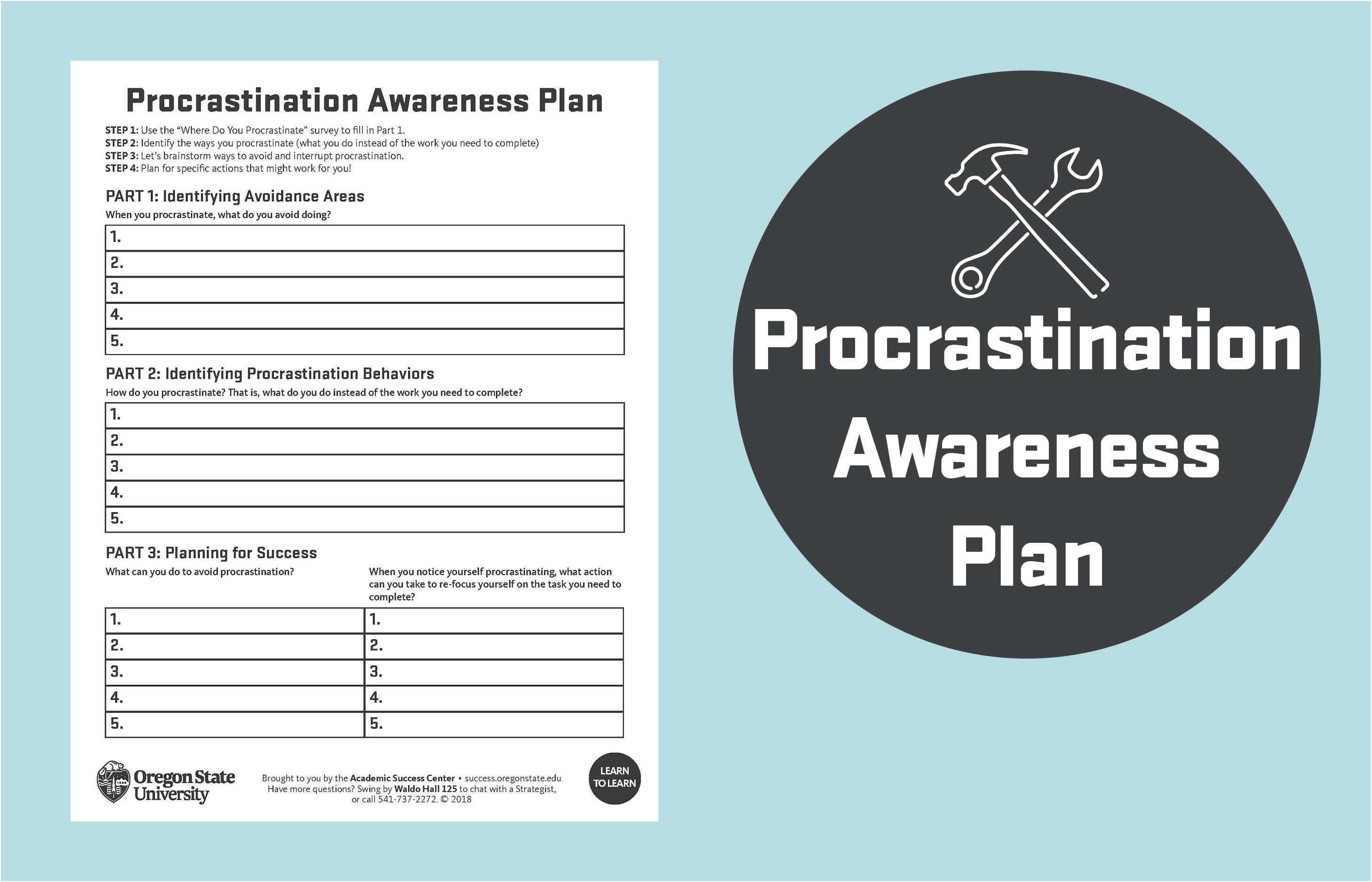 Procrastination awareness plan