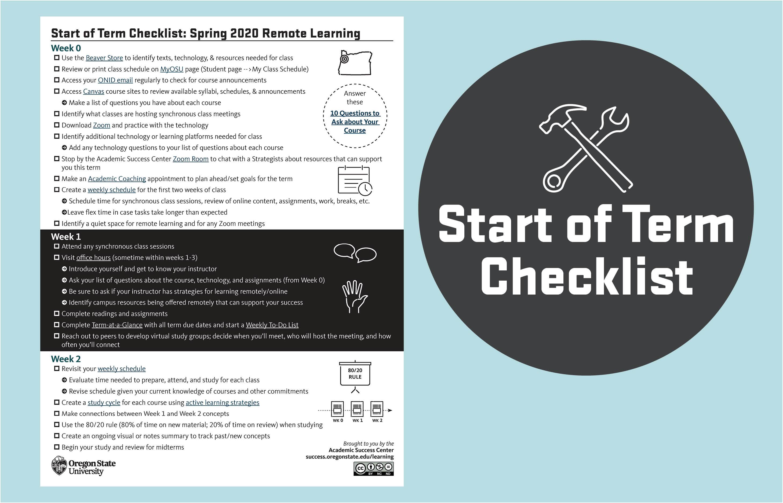 Start of term checklist - Blended