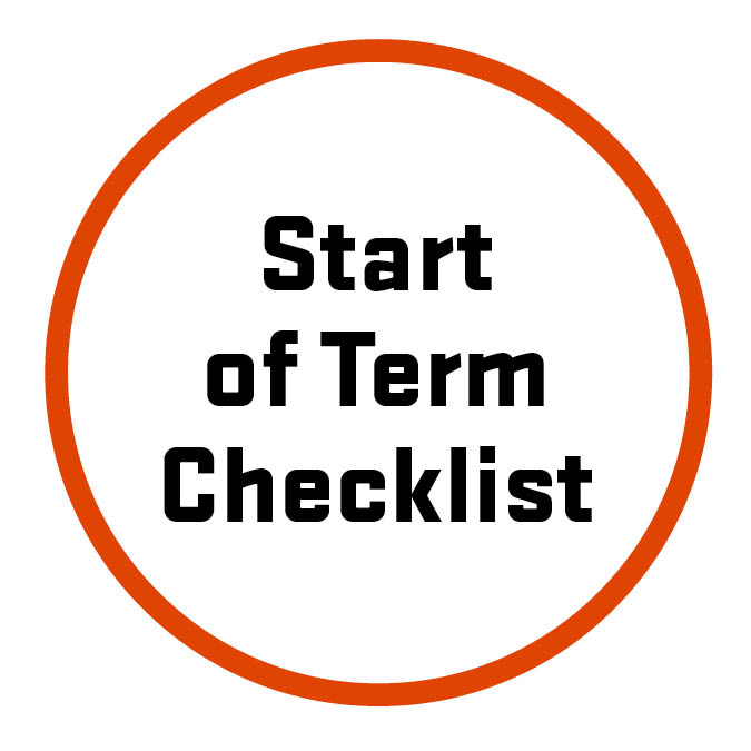 Start of term checklist