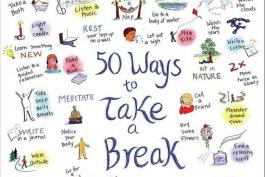 Illustrations of different ways to take a break