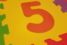 image of number 5 in bright playmat flooring
