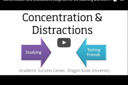 screenshot of concentration and distraction video
