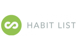 screenshot of Habit List app website