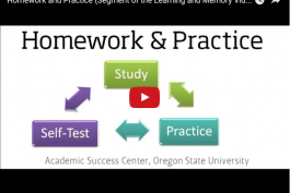 screenshot of the homework and practice video on youtube