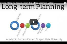 Long term planning video, 2 minutes 8 seconds runtime