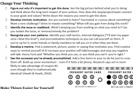 screenshot of motivation techniques worksheet