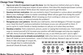 screenshot of motivation techniques worksheet