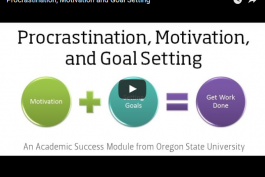 screenshot of procrastination, motivation and goal setting video