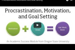 screenshot of procrastination, motivation and goal setting video