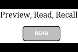 screenshot of preview, read, recall worksheet