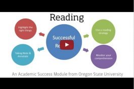 screenshot of the reading video on YouTube