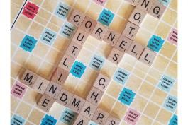image of scrabble board with note-taking styles spelled out