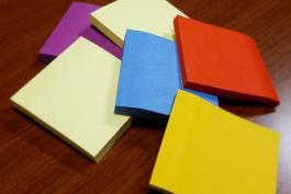 image of sticky-note pads in different colors