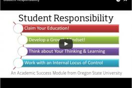 screenshot of student responsibilty video on youtube