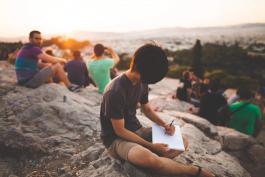 Study group outside