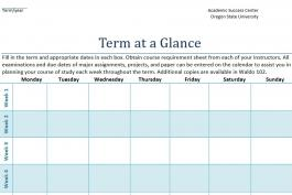term at a glance worksheet