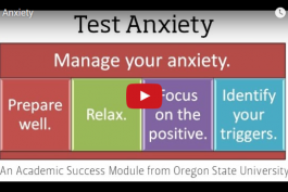 screenshot of test anxiety video on youtube