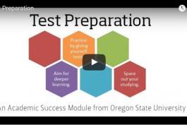 screenshot of test preparation video