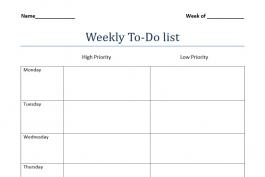 screenshot of weekly to-do list worksheet