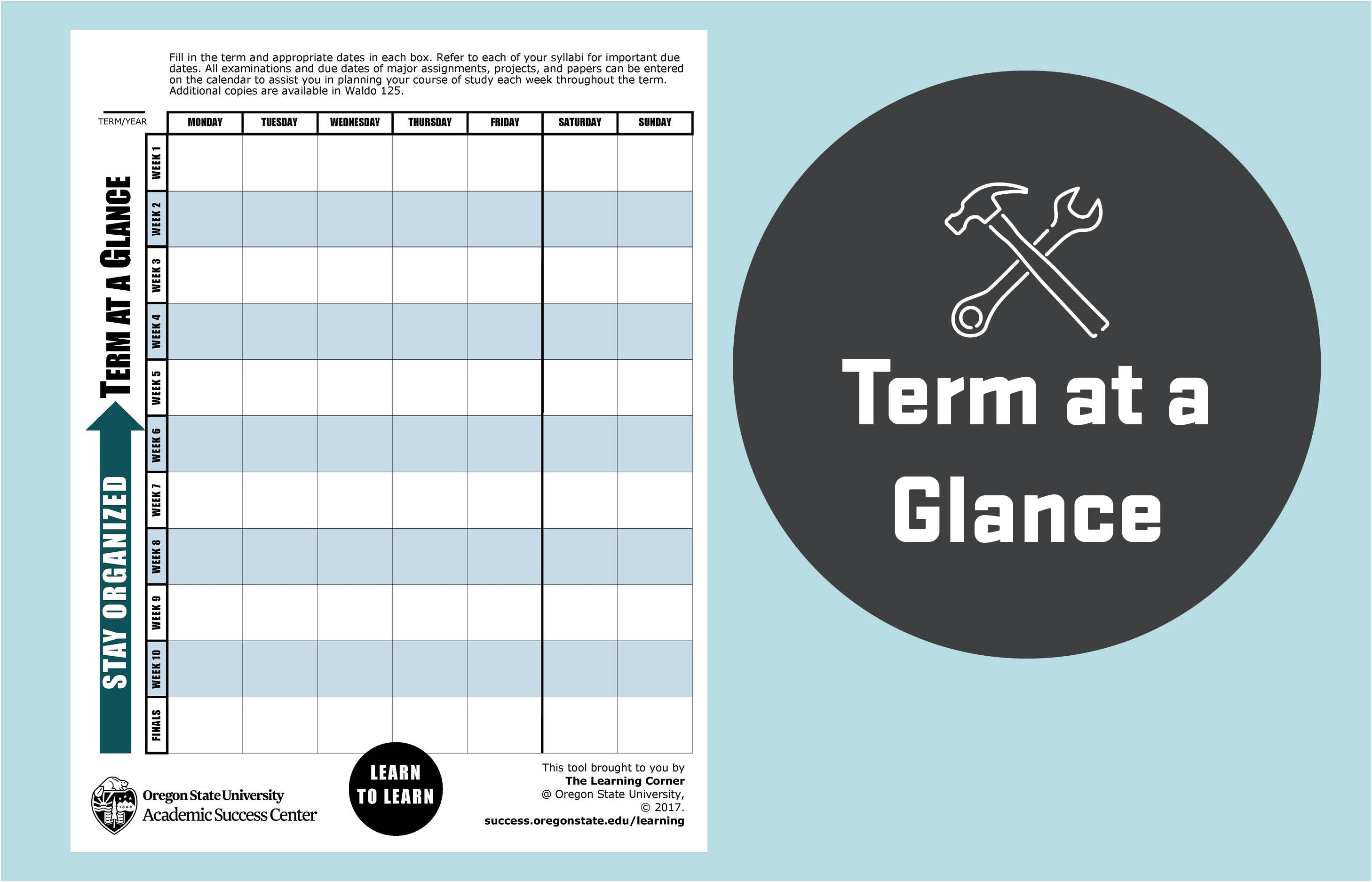 Term at a glance tool