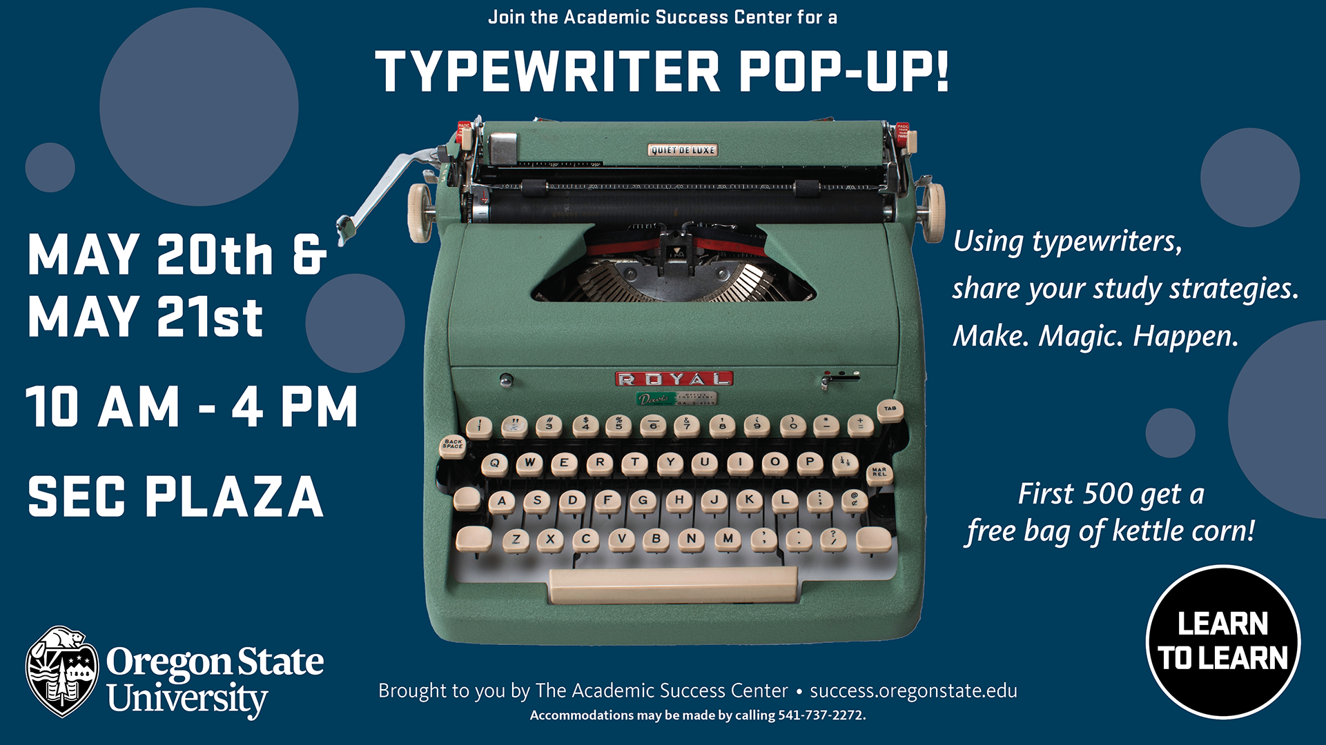Typewriter Pop-Up event