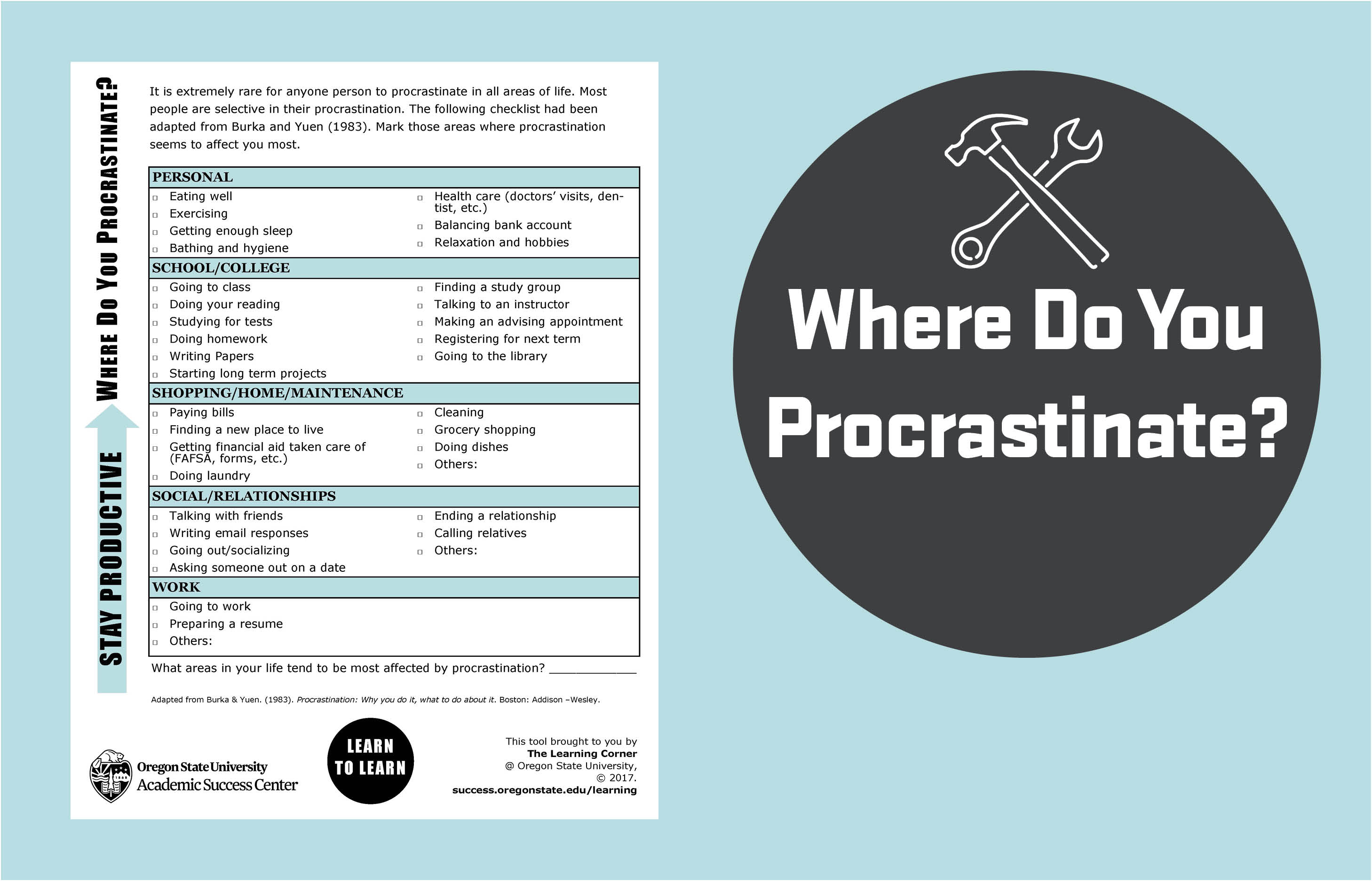 Where do you procrastinate?